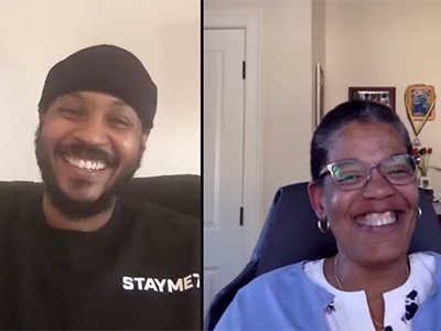 Dean Michelle Williams talks COVID-19 and public health with NBA star Carmelo Anthony