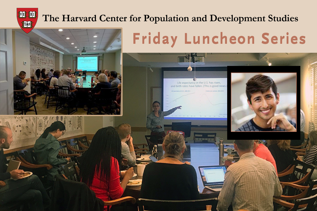 """Harvard Pop Center Friday Lunch Seminar: """"Financial incentives for COVID-19 vaccination: Econometric evidence from U.S. state lotteries"""""""