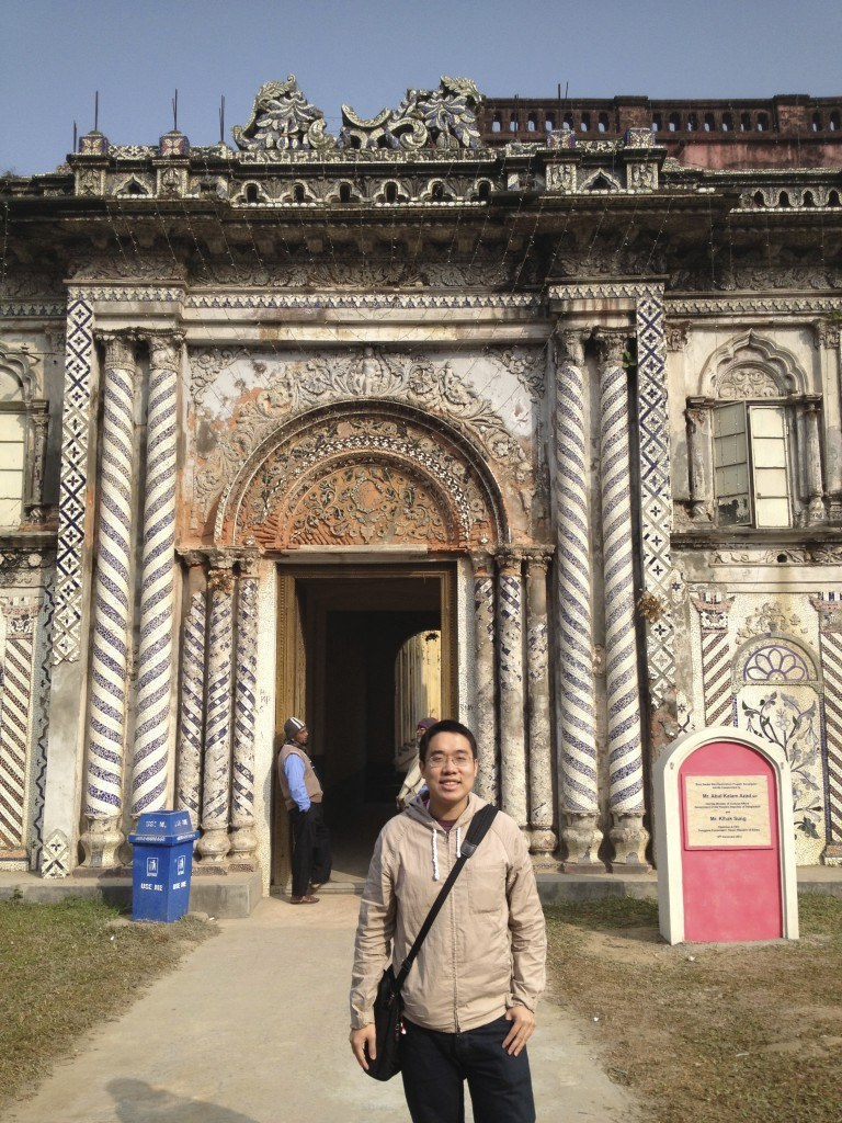 Ryan standing in front of the Folk Art and Craft Museum at Sonargaon
