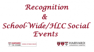 Recognition & School-Wide/HLC Social Events image