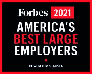 Forbes 2021 America's Best Large Employers Logo