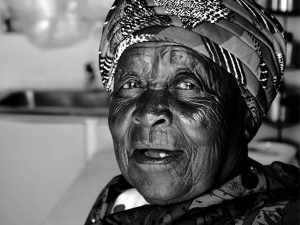 Older woman in South Africa