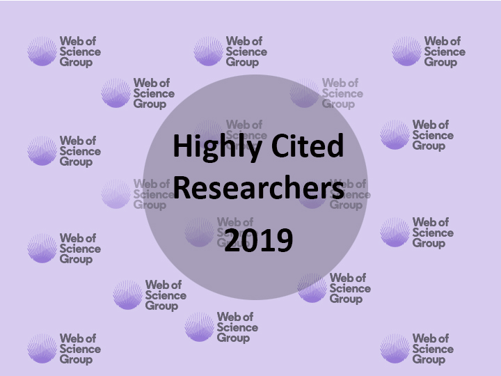 Highly Cited Researchers in 2019 as named by the Web Science Group