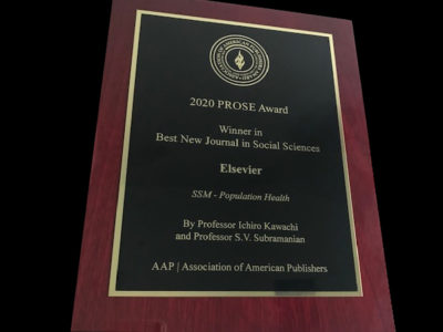 Prose Award to Social Science & Medicine