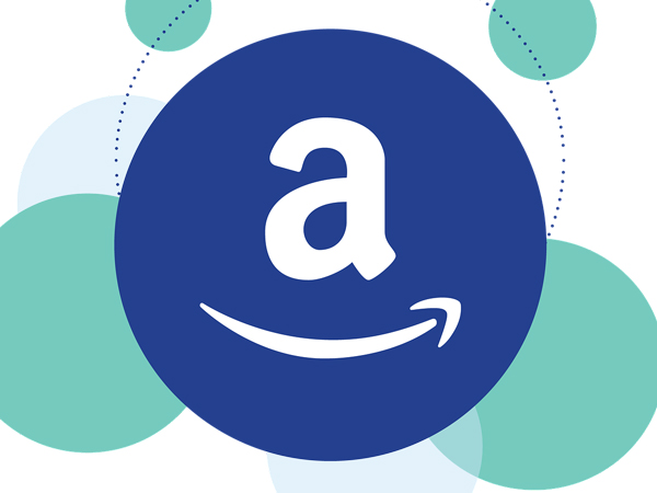 The Amazon icon with smaller circles in the background suggesting connection