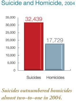 Suicide and Homicide graph