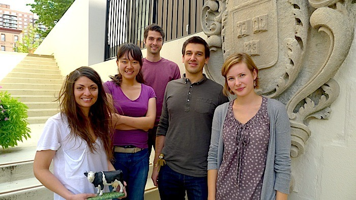 Lab Photo, August 2012. L>R Nessa, Yue, Kris, Will, Kasia