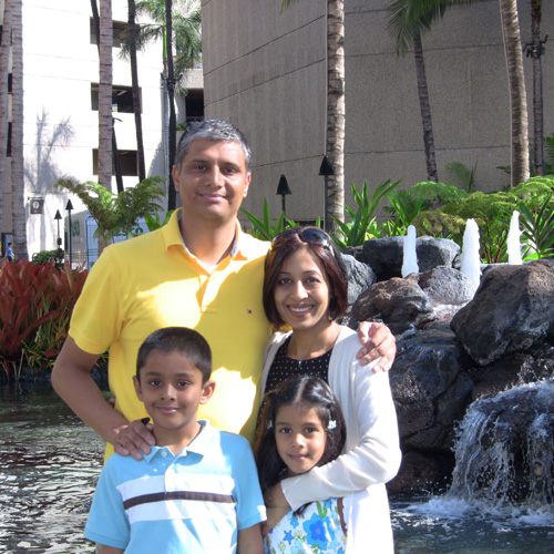 Minal Kapoor, MD and family