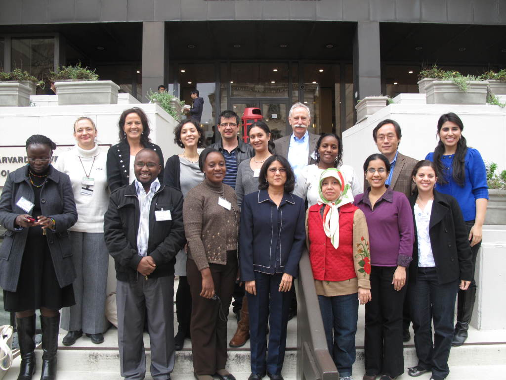 GNET Members gather in front of the Harvard School of Public Health during the last GNET Symposium in the fall of 2011.