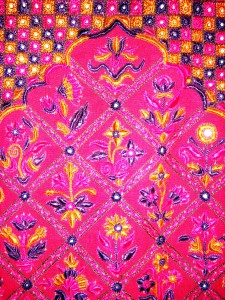 Fuchsia Indian textile