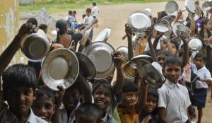 children at school's mid-day meal