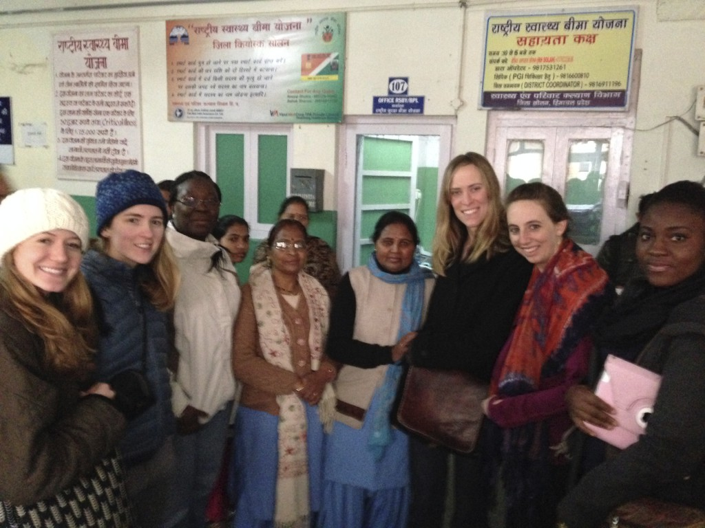 HSPH students in India for winter session