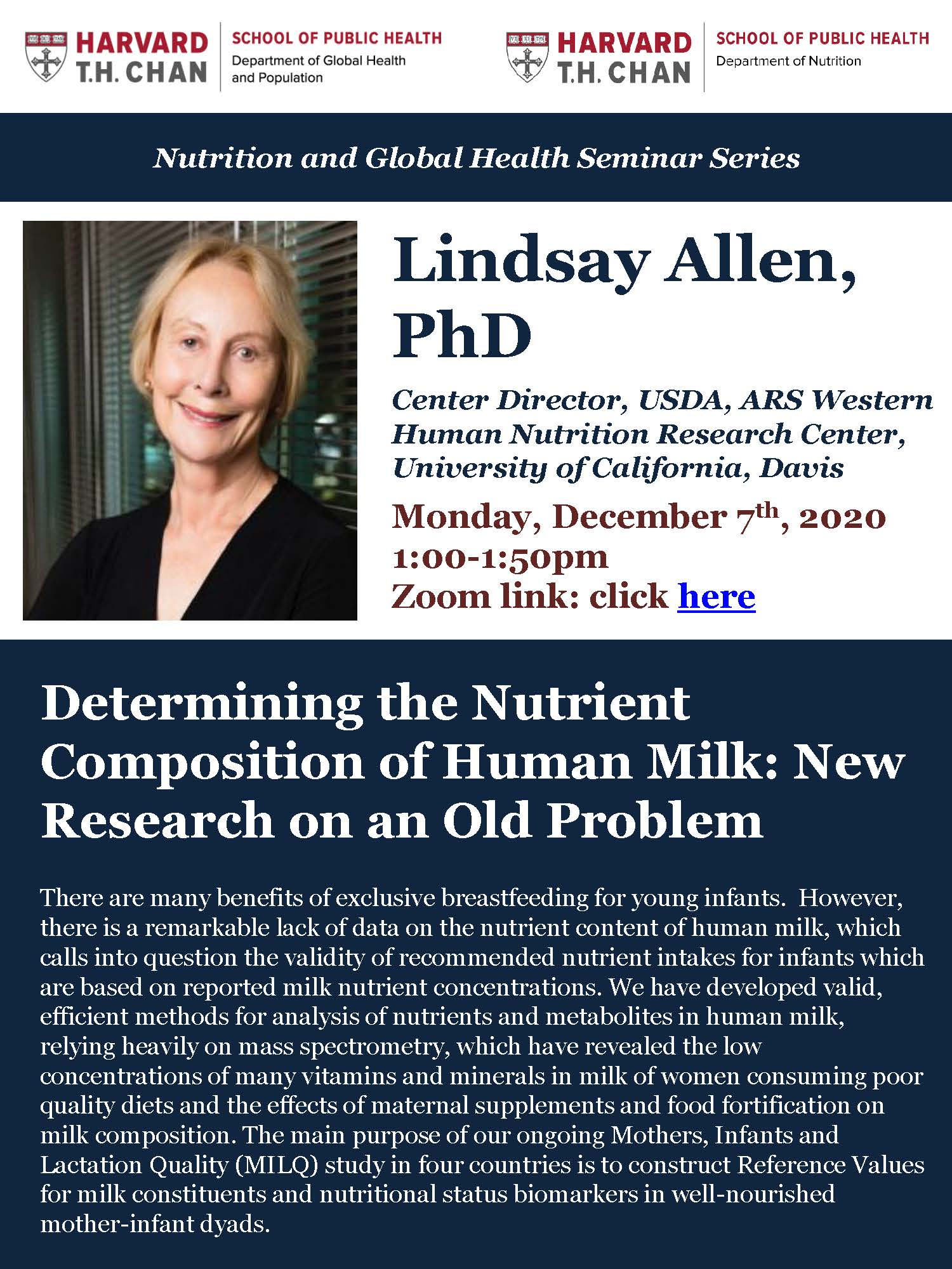 Flyer for Lindsay Allen