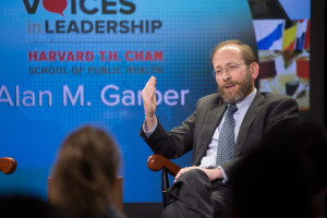 Alan M. Garber, Provost, Harvard University, spoke at Voices in Leadership.