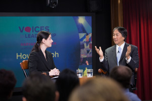Howard K. Koh spoke in the Voices in Leadership series, with Katherine Baicker interviewing.