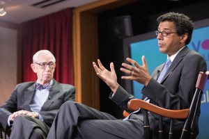 Atul Gawande spoke in the Voices in Leadership series in April 2015. The session was moderated by Lucian Leape.
