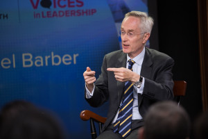 Sir Michael Barber speaks at Voices in Leadership
