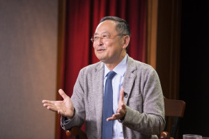 Gerald Chan, SM '75, SD '79, spoke in the Voices in Leadership series on September 9, 2015.