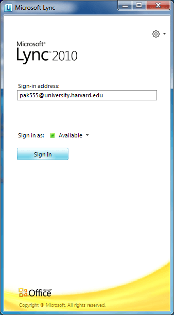 microsoft lync instructions to login and install