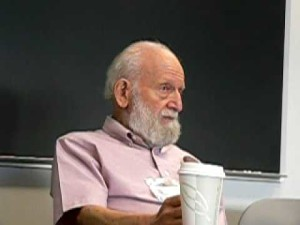 Richard Levins with lecturing coffee cup