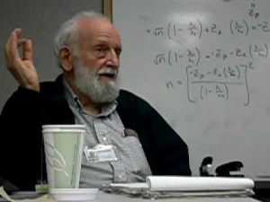 Richard Levins with math equations illustrating mathematicality of nature