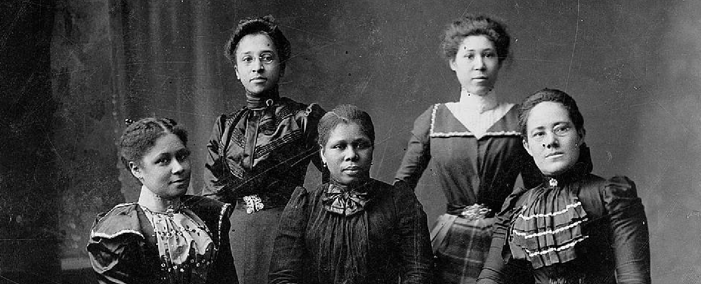 photo of five Negro officers of the Women's League, Newport, RI, 1899