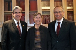 HSPH Dean Julio Frenk, Harvey V. Fineberg Professor of Public Health Nan Laird, former HSPH Dean Harvey Fineberg