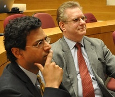 Atul Gawande (left) and Samuel Forman