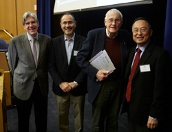 Dean Julio Frenk, Gökhan Hotamisligil, John B. Little, and Gerald Chan, SM '75, SD '79