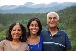 Meera Kotagal, MD '09, MPH '14, and her parents Uma Kotagal, MSc '96, and Shashi Kant, MSc '99