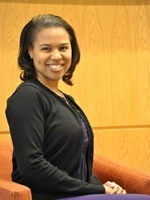 HSPH student Shaniece Criss participated in the group dynamics workshop.