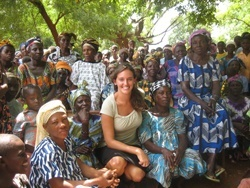 GLOBAL PERSPECTIVE With a Michael von Clemm Traveling Fellowship, MS degree candidate Sarah Petters spent last summer in Ghana doing reproductive health research through USAID and the Ghana Health Service.