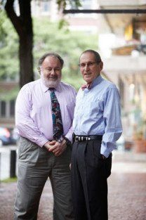 NPLI co-director Leonard Marcus (left) and faculty member Barry Dorn