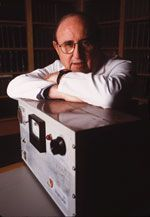 Professor Emeritus Bernard Lown, co-founder of International Physicians for the Prevention of Nuclear War, in a 1996 photo.