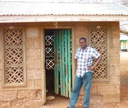 Abdullahi (pictured at a TB isolation hut) hopes to create interventions based on the unique needs of Kenyan communities like Wajir, where families are large, communal gatherings are frequent, and ventilation is poor—ideal conditions to spread TB. Photo: courtesy of Osman Abdullahi