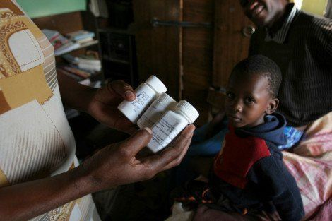 This family participated in a HSPH study in Botswana to determine whether multivitamins and selenium can improve immunity and prolong life in HIV-infected adults. REUTERS/Joan Sullivan