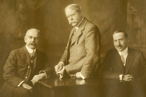 Left to Right: George Chandler Whipple, William T. Sedgwick, Milton Joseph Rosenau. Members of the Administrative Board, School for Health Officers, Harvard University-M.I.T.