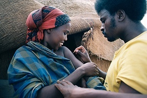 A woman in Ethiopia is vaccinated against smallpox in the 1970s as the global eradication campaign nears an end.