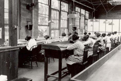 """Radium Girls"" at work"