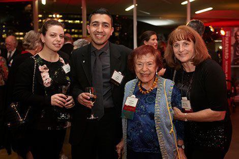 Students and alumni alike honored Professor Emerita Isabelle Valadian, MPH '53 on the occasion of her 60th reunion year