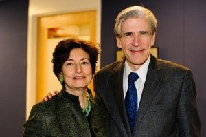 Linda Fried with HSPH Dean Julio Frenk