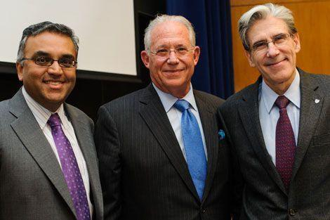 Ashish Jha, William Haseltine, and Dean Julio Frenk