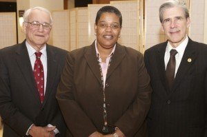 Stephen B. Kay, Michelle Williams, and Dean Julio Frenk