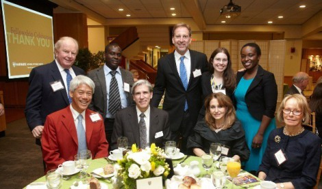 Fellowship celebration with Dean Frenk