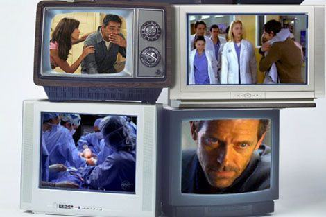 TV shows on TVs
