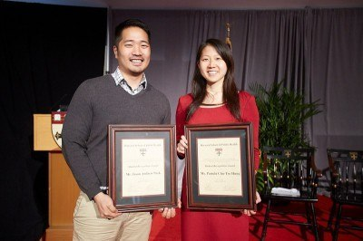 Student Recognition Award winners Jason Andrew Park and Pamela Chu-Tso Hung