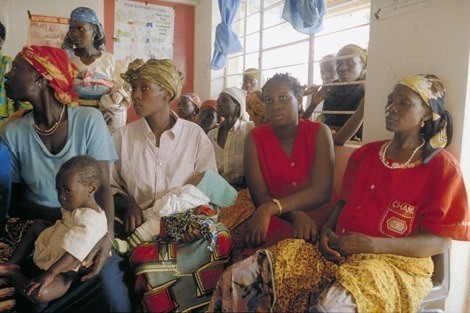 Nigerian women at a health clinic