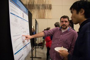 Nick Baro of the Wirth Lab, with master's student Francisco Cai.