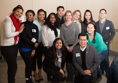 Office of Diversity and Inclusion staff with Student Ambassadors at the reception