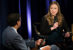 Chelsea Clinton and Atul Gawande